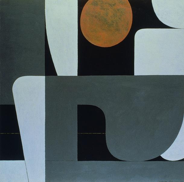 I.Moralis_ Full moon Z_1976_Silkscreen  Print_83X80@ZoumboulakisGalleries